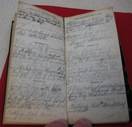 Adelbert Knight journal page
