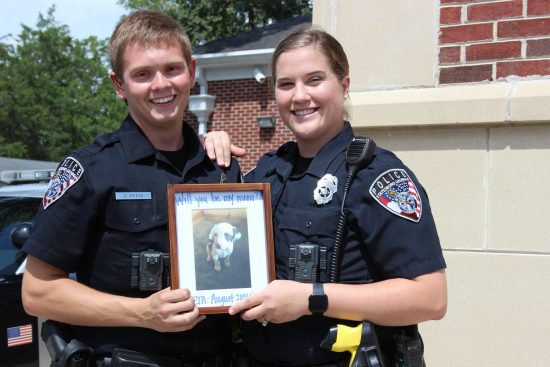 Officer Reese and his fiance, fellow officer Katie