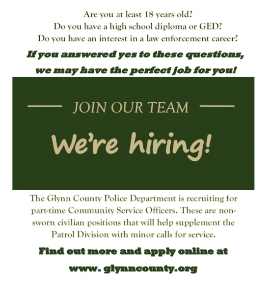 Find out more and apply at www.glynncounty.org