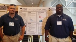 Criminal Justice and Criminology Master's students Joseph Bacot and Michael Singleton