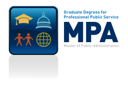 Graduate Degrees for Professional Public Service MPA Logo