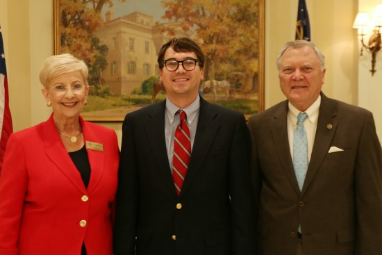William Bell (center) with Georgia Gov. Nathan Deal and First Lady Sandra Dunagan Deal.