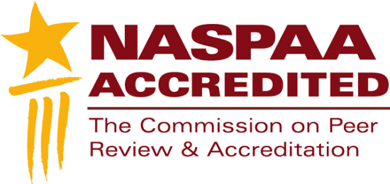 NASPAA Accredited. The Commission on Peer Review and Accreditation.