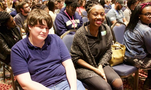 Students at the Courageous Conversations Event